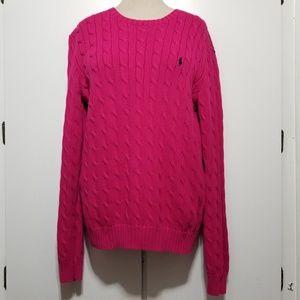 POLO Cross Knit Sweater